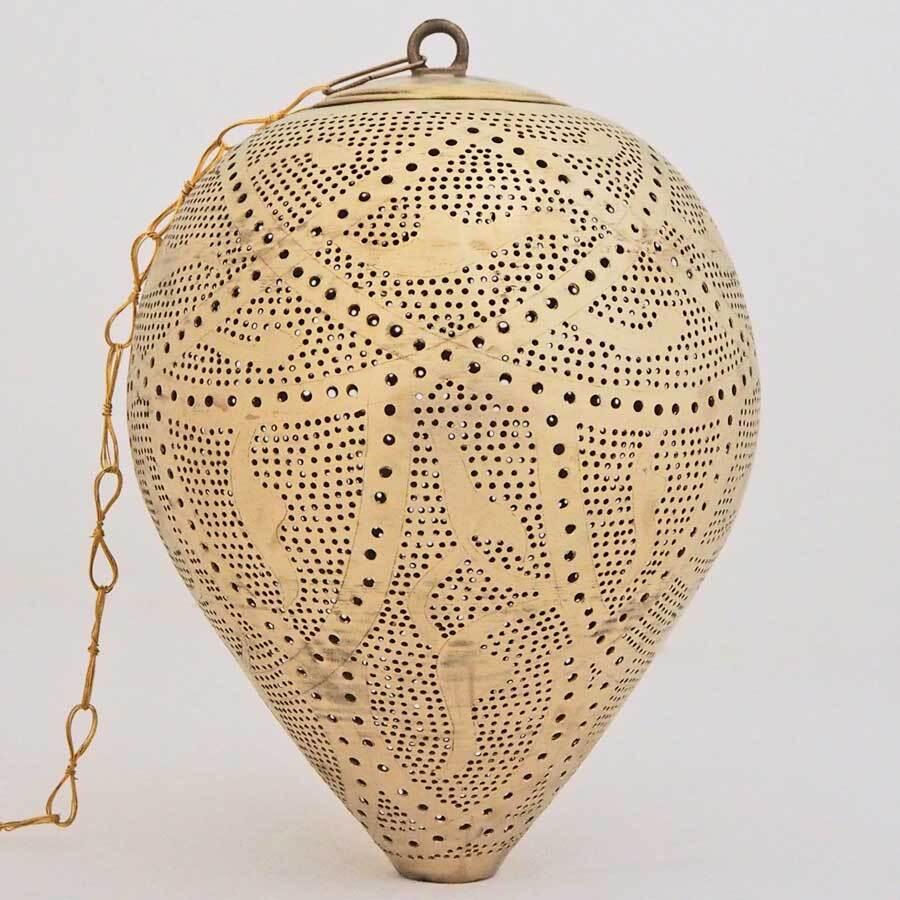 Arabische hanglamp Nada Q - geel