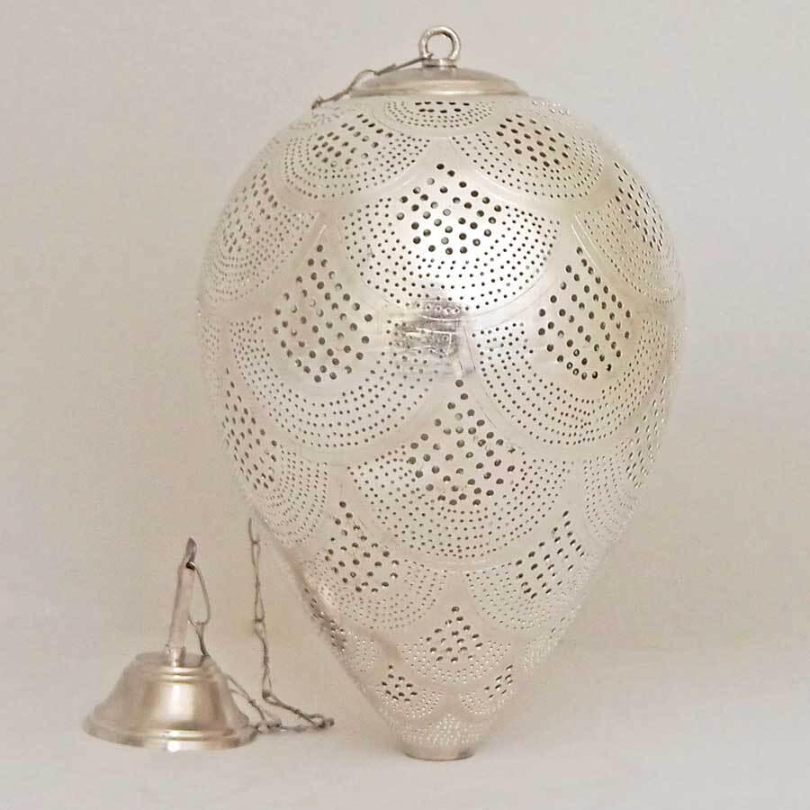 Arabische hanglamp Nada R - verzilverd koper