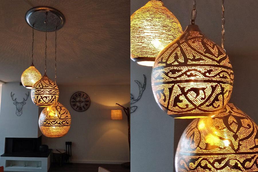 Groep Arabische lampen als set aan blad