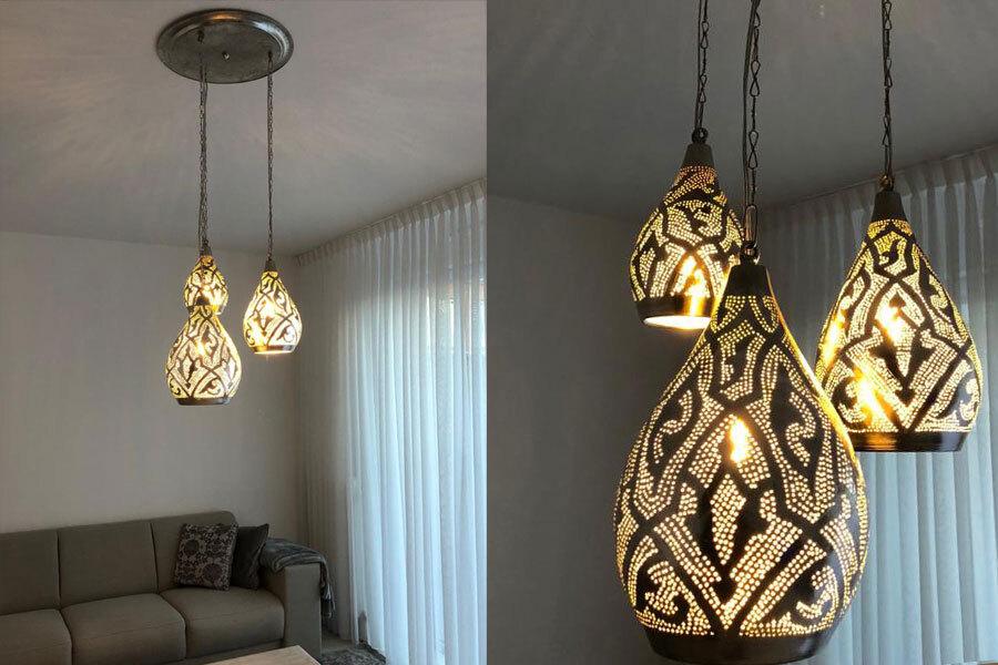 Groep hanglampen Nile