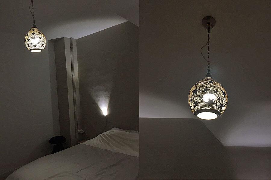 Hanglamp Kawakeb met sterren