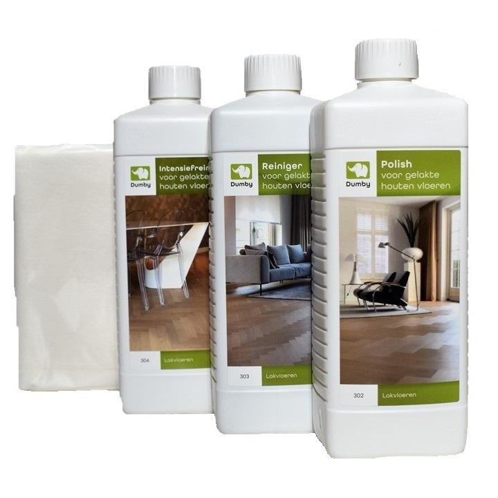 Onderhoudsset voor gelakte houten vloeren - oplosmiddelvrij