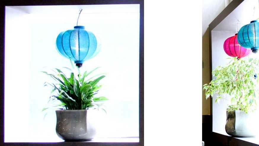 Turquoise lampionnen als decoratie huis en tuin