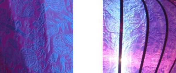 Detail paarse lampion