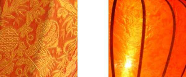 Detail oranje lampion