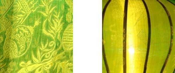 Detail groene lampion