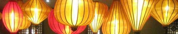 Koperen lampionnen als hanglamp