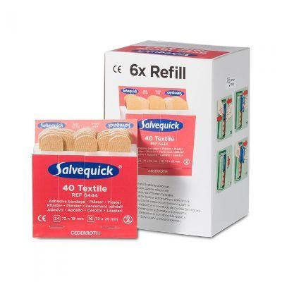 Salvequick 6pack - 6444 navulling textiel pleisters 40 stuks