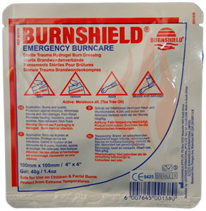 Burnshield kompres 10 x 10 cm