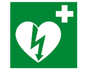 AED pictogram polypropyleenplaat