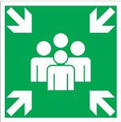 Verzamelpunt pictogram sticker