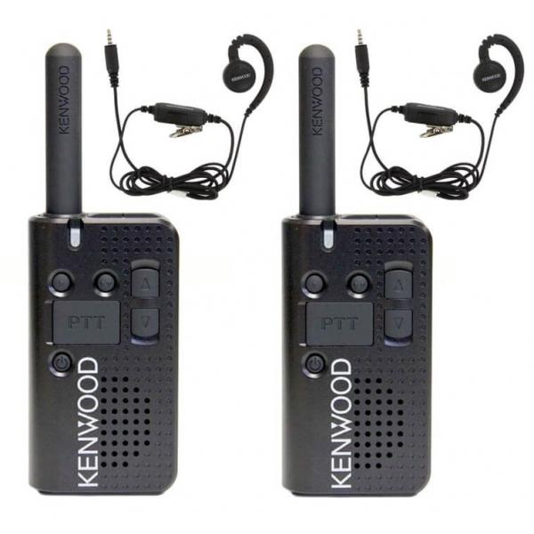 Set van 2 Kenwood PKT-23e portofoons met KHS-34 oortjes