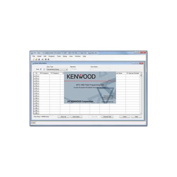 Software voor Kenwood TK-3401