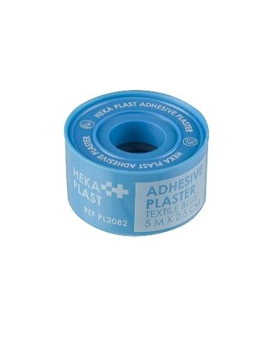 HEKA plast hechtpleister HACCP textiel 5 m x 2,5 cm