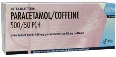 Paracetamol Coffeïne 500/50 mg 50 tab.