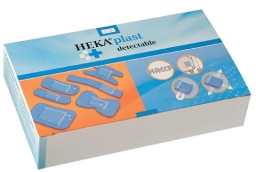 Blauwe detectie pleisters 19 x 72 mm 100 stuks Textiel HACCP