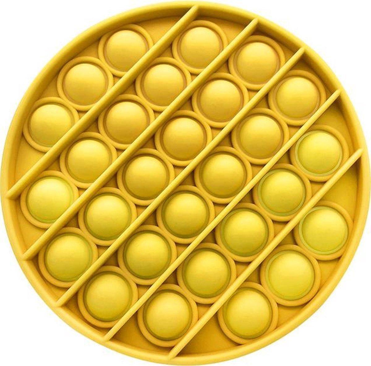 Pop Bubble®? - Geel - Pop it fidget toy rond