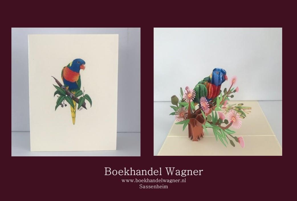 Wenskaart papegaai