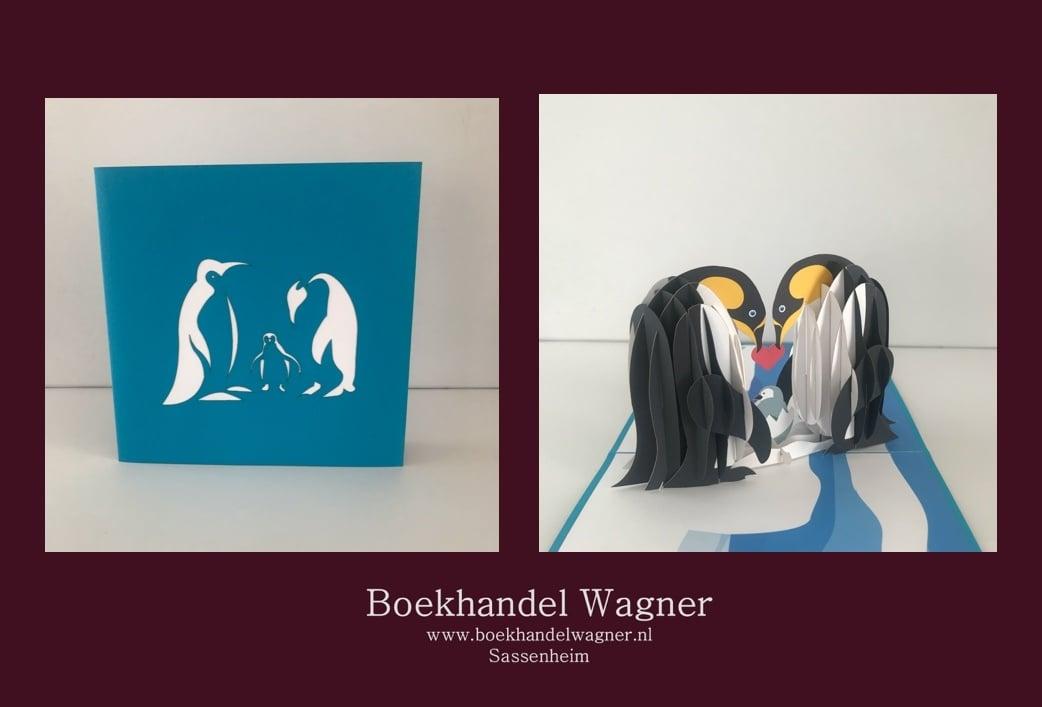 Wenskaart pinguinfamilie