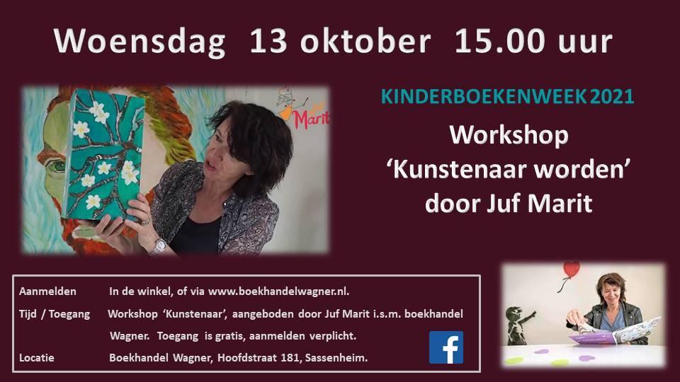 Workshop 'Kunstenaar worden' Juf Marit 13 oktober 15.00