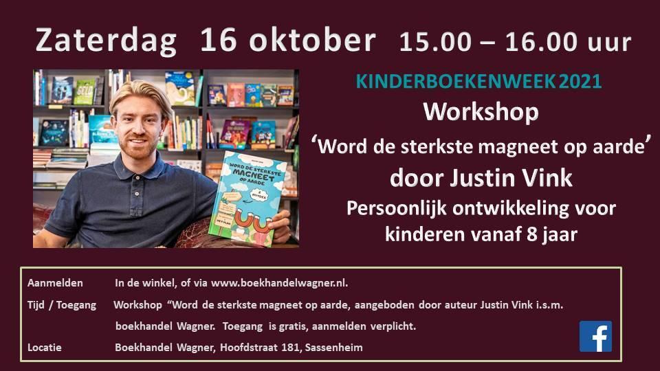 Workshop 'Persoonlijke ontwikkeling voor kinderen' 16 oktober 15:00 Justin Vink