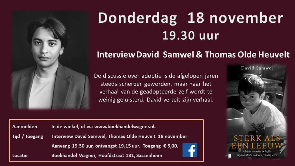 Interview 18 november 19:30 David Samwel