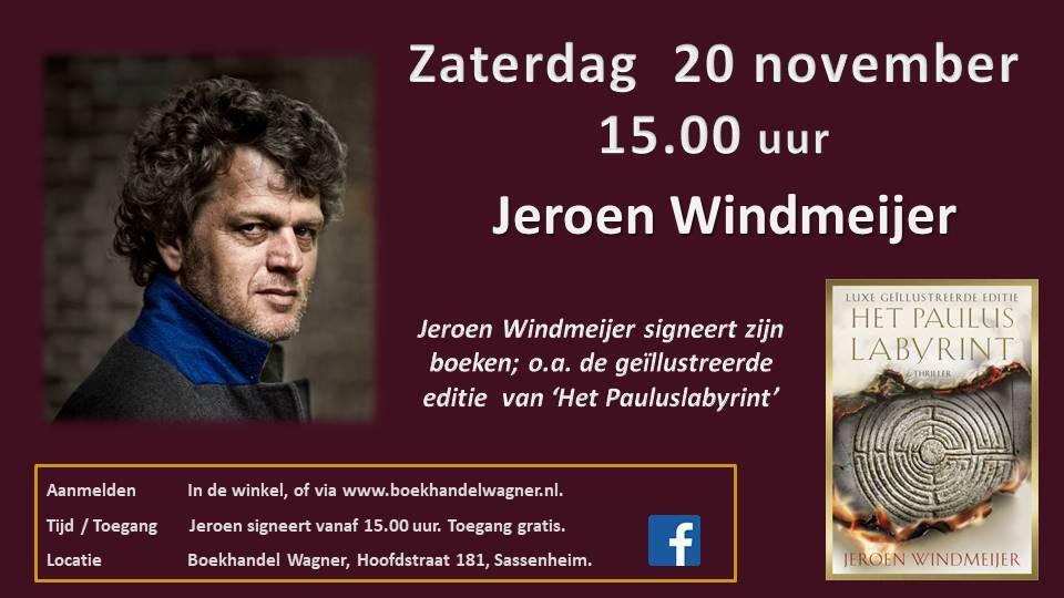 Meet & Greet Jeroen Windmeijer 20 november 15:00