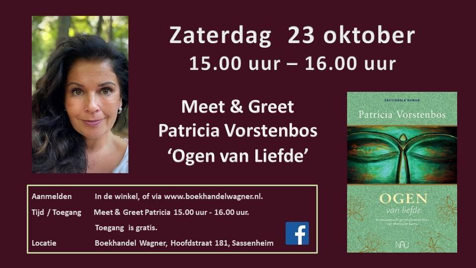 Meet & Greet 23 oktober 15:00 Patricia Vorstenbos