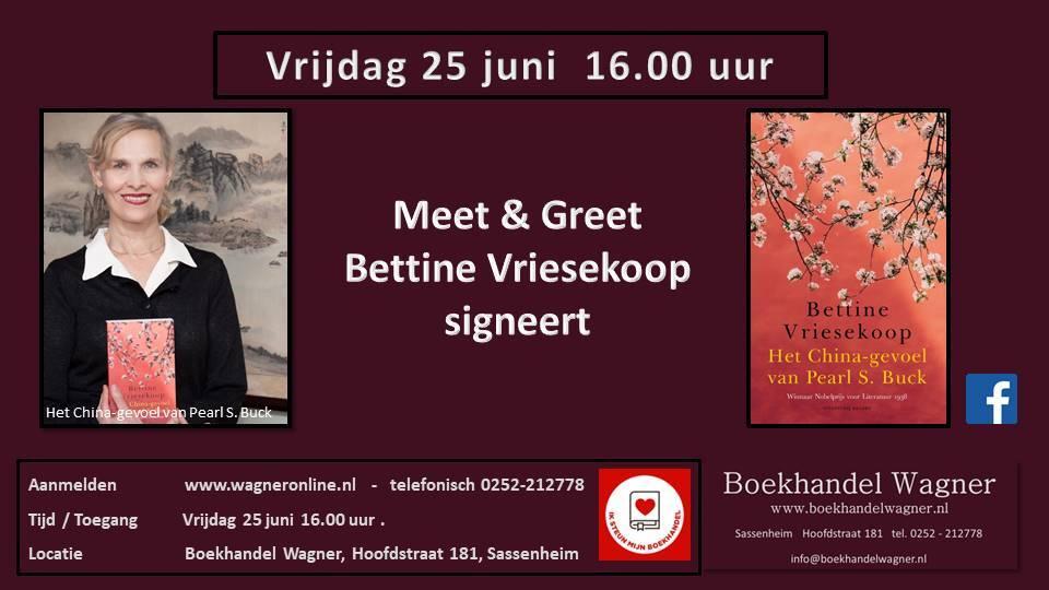 Uitnodiging: Meet & Greet Bettine Vriesekoop