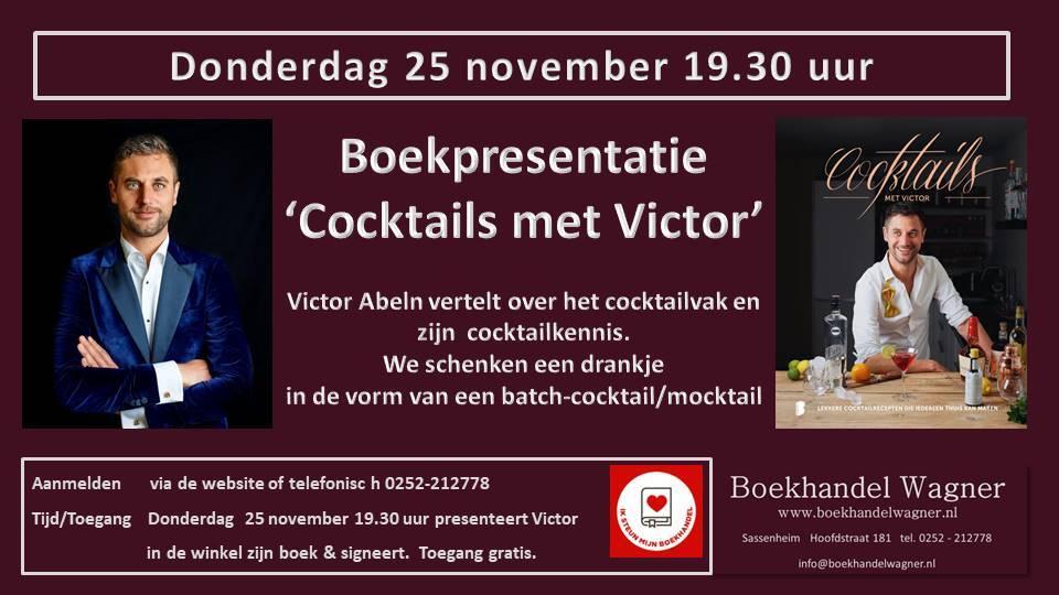 Boekpresentatie 'Cocktails met Victor' 25 november 19:30