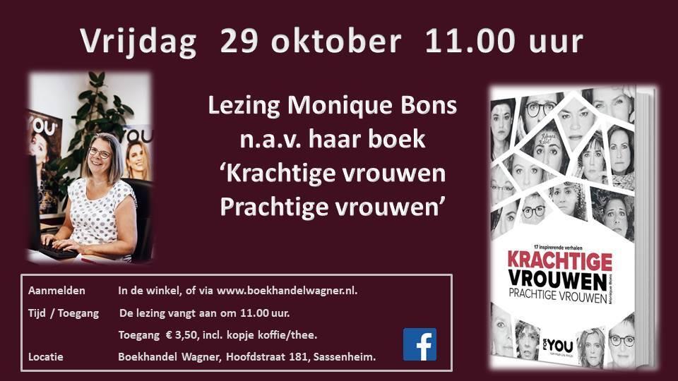 Lezing 'Krachtige vrouwen, prachtige vrouwen' 29 oktober 11:00 Monique Bos