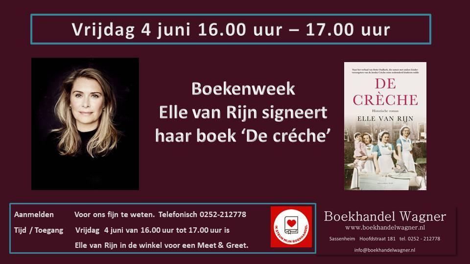 Uitnodiging: Meet & Greet met Elle van Rijn
