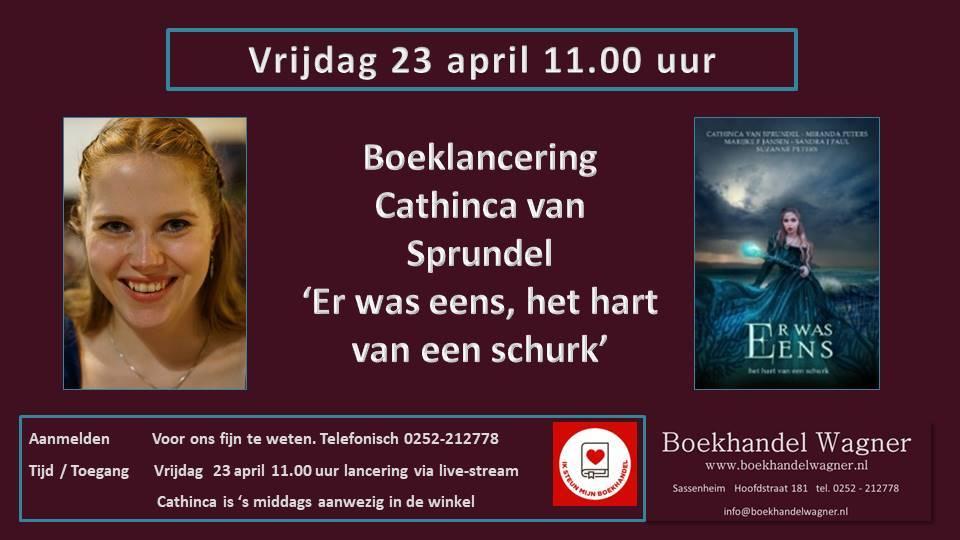 Uitnodiging: Boeklancering Cathinca van Sprundel - Er was eens