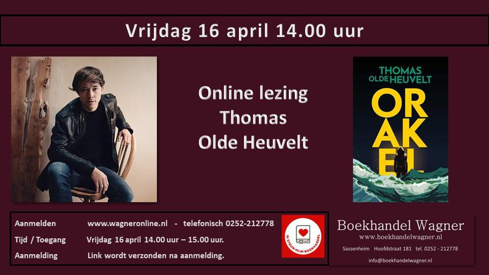 Uitnodiging: Thomas Olde Heuvelt - Orakel
