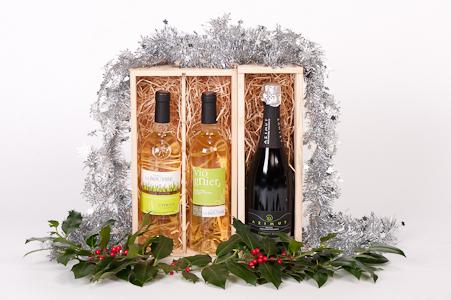 Kerstpakket witte wijn