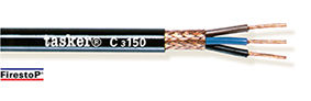 Red copper braided shielded cable 1 x 1,50 - CPR<br />C1150