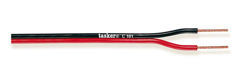 Divisible red&black flat cable 2x0,35<br />C101 - 2x0.35