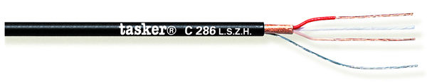 Balanced microphone cable 2x0.22 in LSZH<br />C286 L.S.Z.H.