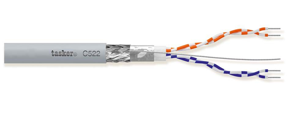 Shielded cable DMX 512 - EIA RS 485 - 1x2x0,22<br />C521