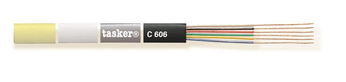 Flat telephone cable 6 x 0,08<br />C606color