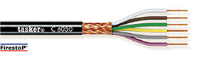 Red copper braided shielded cable 5 x 0,50 - CPR<br />C5050