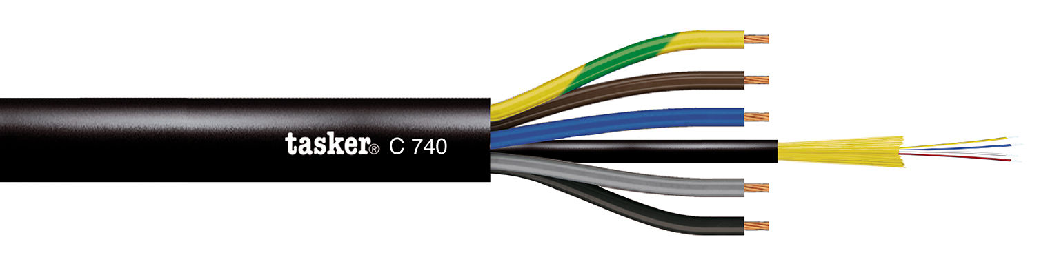 Optical Komby Cable Power+SM OS2 C740 indoor