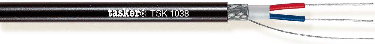 TSK 1038 Soft 2x0,35 mm² Mobile In/Outdoor<br />DMX Digital Audio 110 Ohm Cable AES/EBU