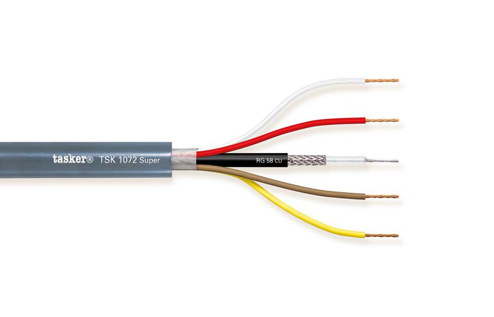 Radio Frequency cable 1x50 Ohm + 2x0,50 + 2x0.75<br />TSK1072 super