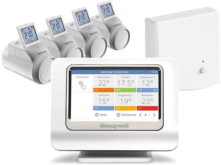Honeywell Evohome 4-zone radiator pakket aan/uit