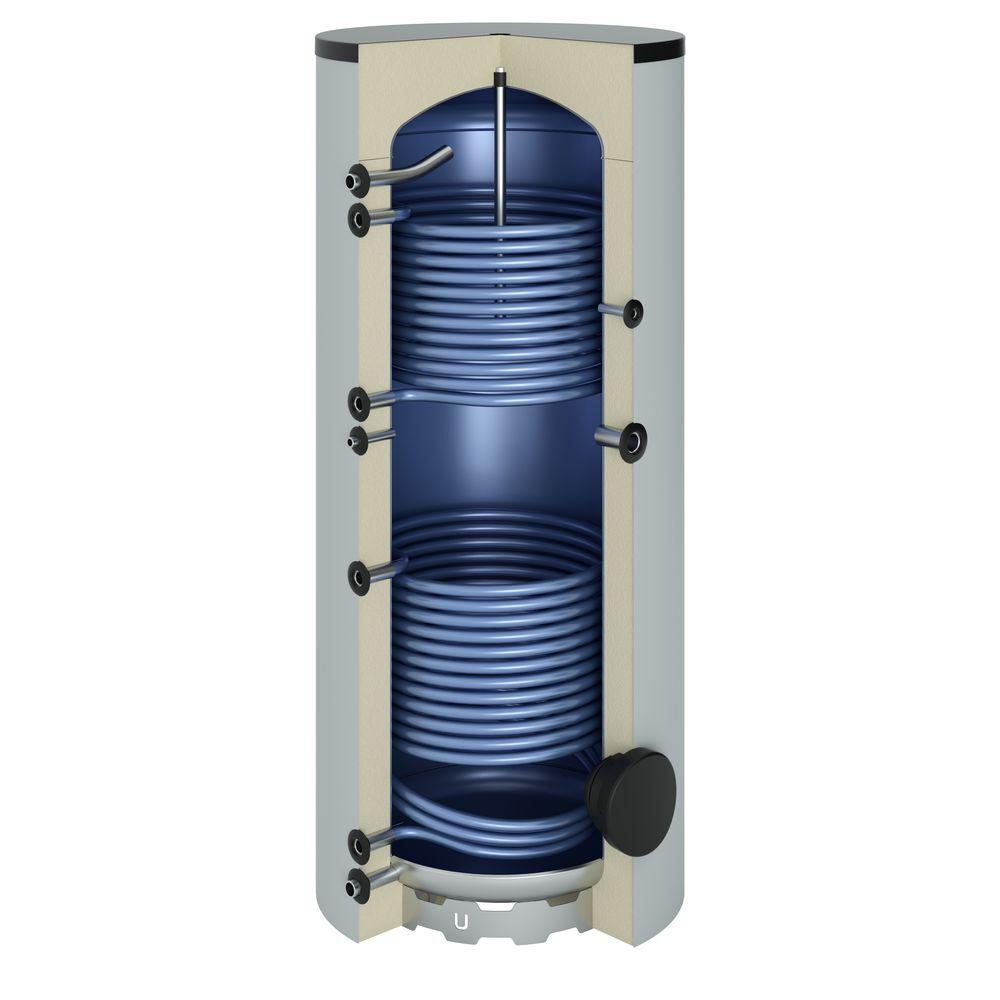 Tapwaterboiler met 2 warmtewisselaars