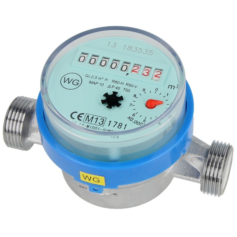 Watermeter met pulsgever