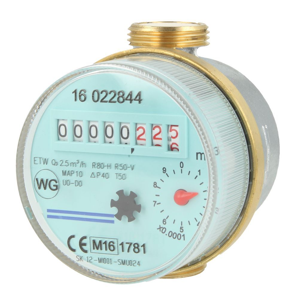 Tapkraan watermeter