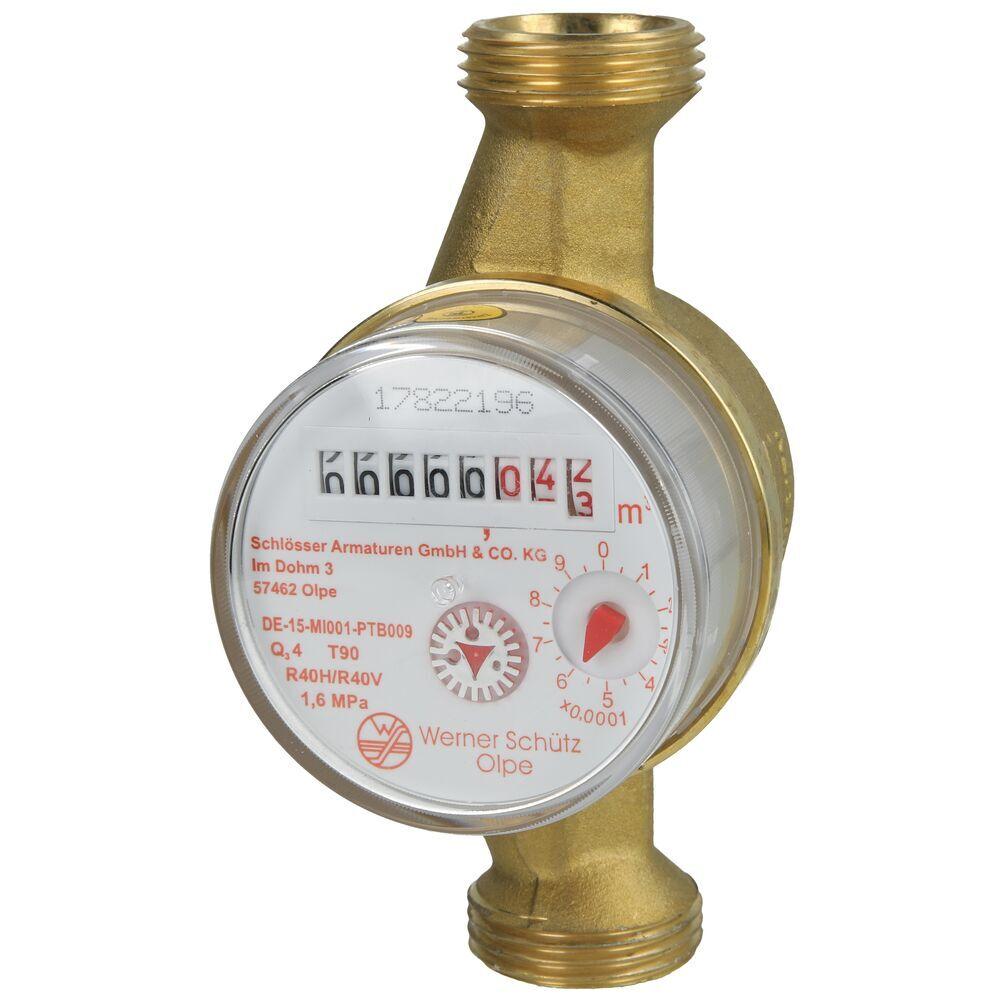 Watermeter voor warmwater 4 m³/h