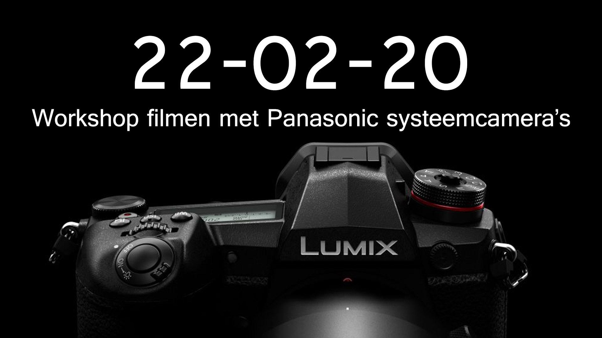 Filmen met Panasonic camera's